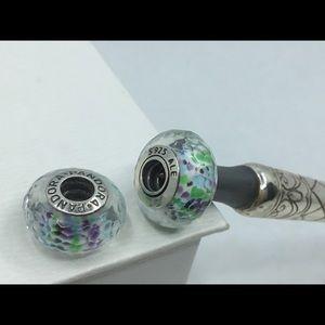 Pandora Tropical Sea Glass Bead Pair